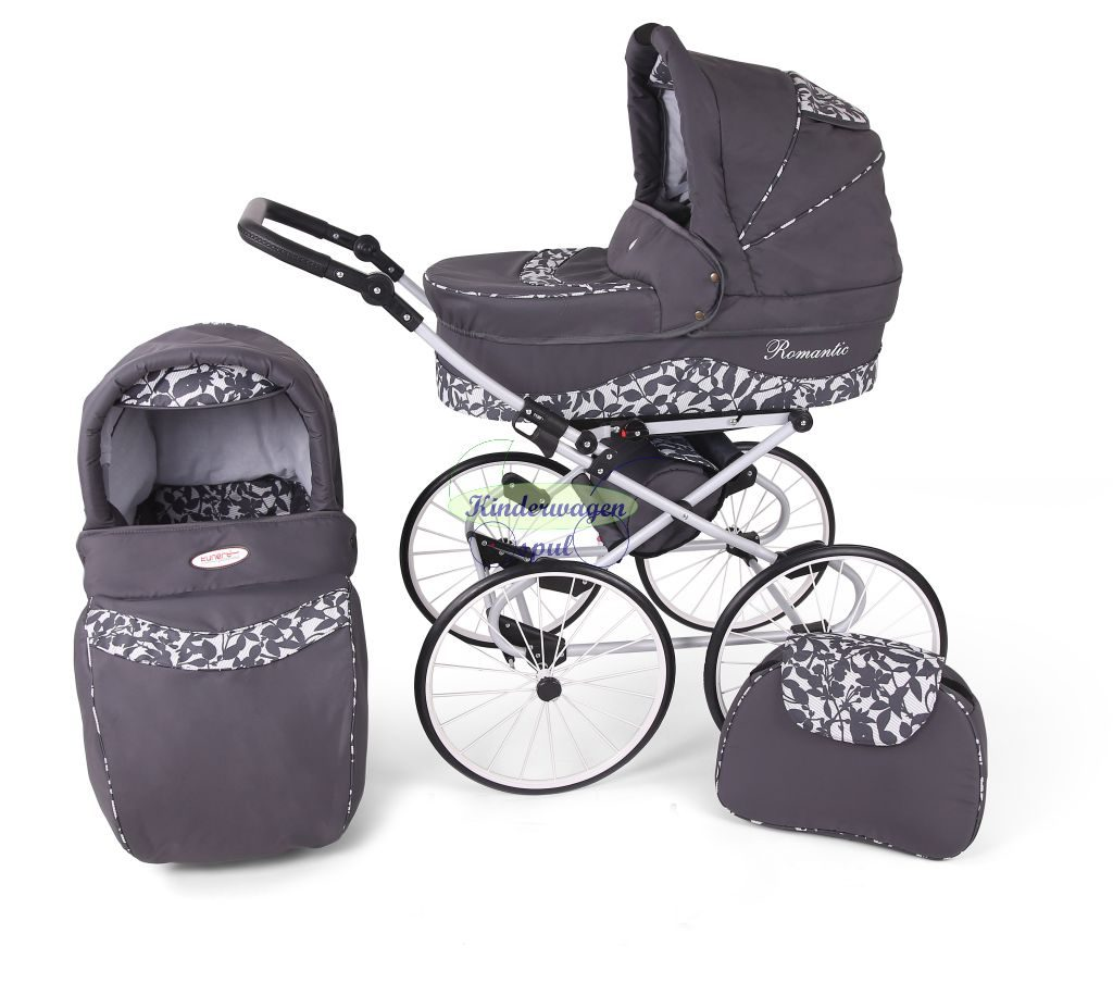 Baby carriage anthracite - leaf<br /> Price: 549,00 Euro