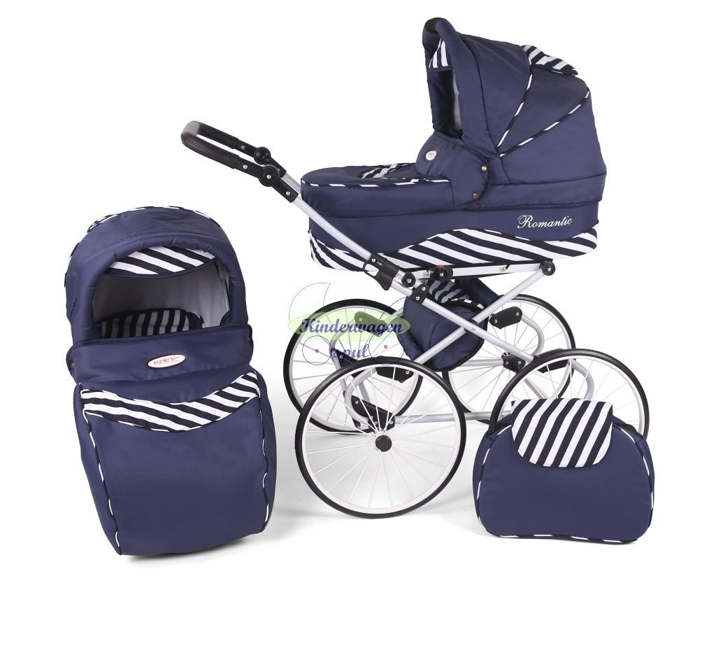 Baby carriage black - blue zebra<br /> Price: 549,00 Euro
