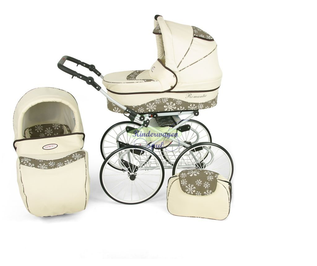 Baby carriage cream - snowflake<br /> Price: 549,00 Euro