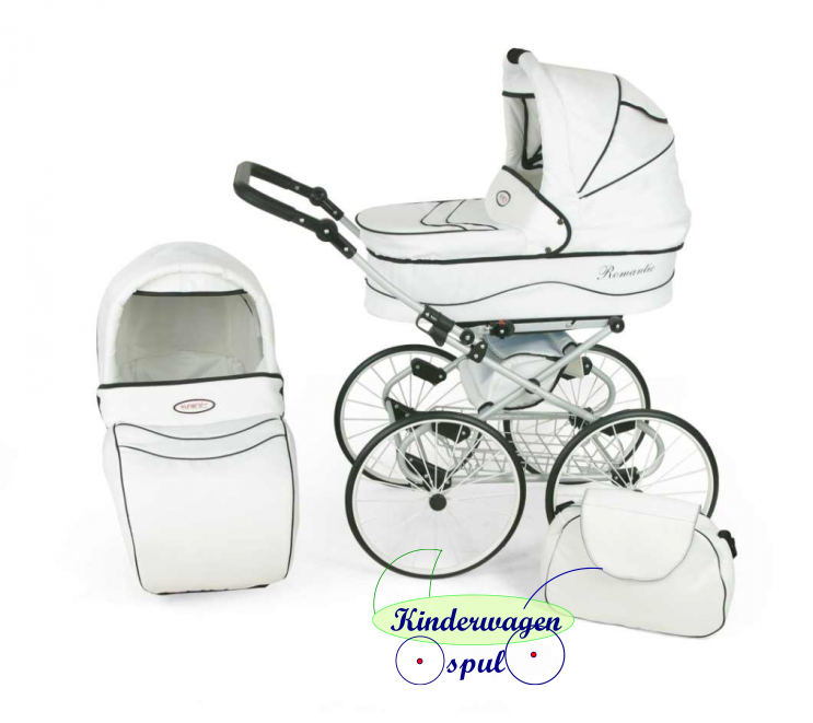Baby carriage white - white<br /> Price: 549,00 Euro