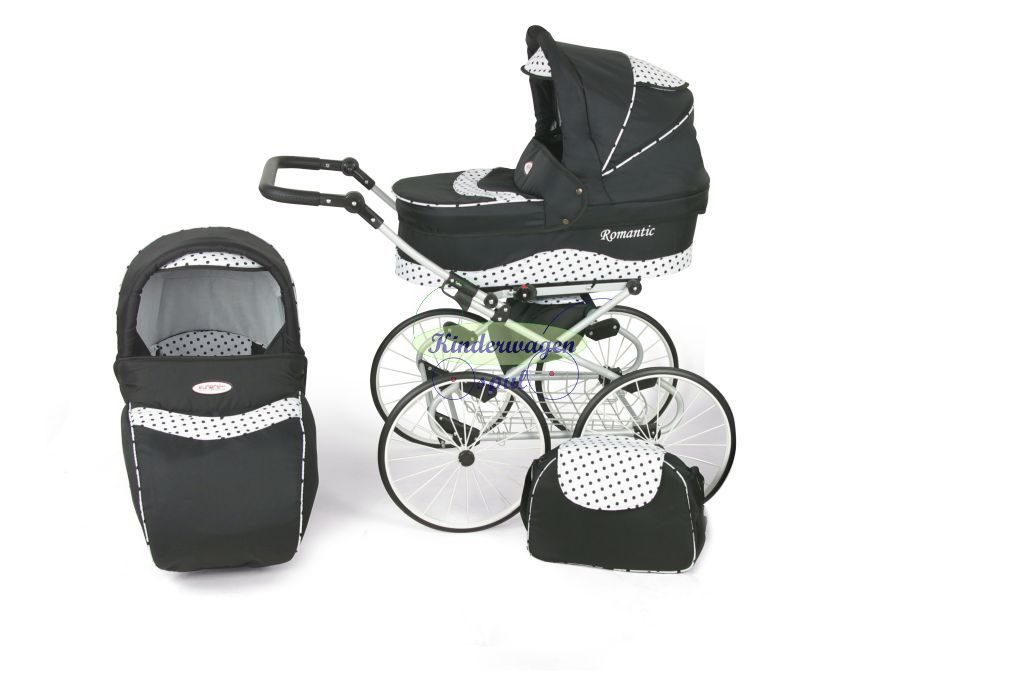 Baby carriage black - black dot<br /> Price: 549,00 Euro
